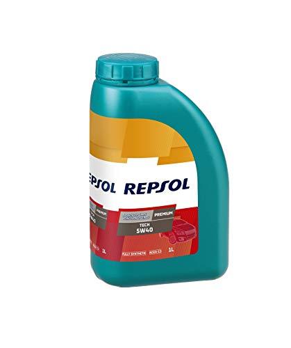 Repsol RP081J51 Premium Tech 5W-40 Aceite de Motor para Coche, 1 L