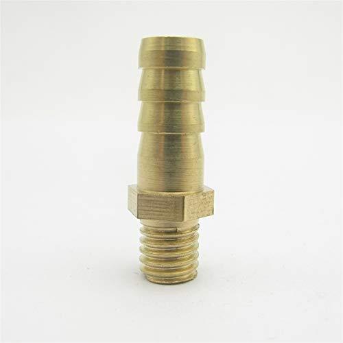 Pilang Zxxin-Accesorios de tuberia 8 mm for Manguera X M8 * 1.25 mm Rosca Macho de latón de púas instalación de tuberías, Adaptador de Conector de combustibles gaseosos, Agua
