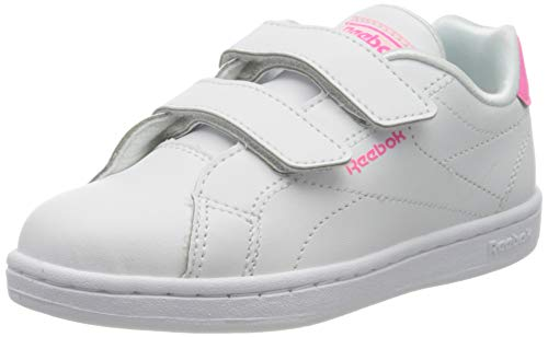 Reebok RBK Royal Complete CLN Alt 2.0, Zapatillas de Deporte Unisex niños, White/Solar Pink/None, 21.5 EU