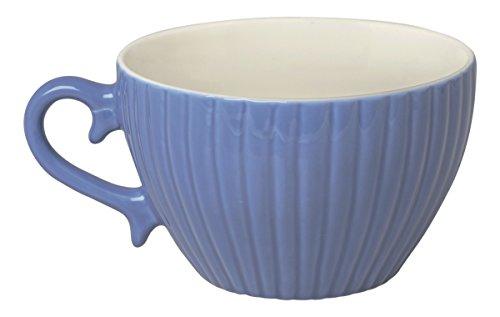 Excelsa Parisienne Tasse Jumbo 400 ML, Porcelaine, Bleu Ciel, 11.5 x 11.5 x 7.2 cm