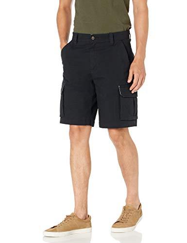 Amazon Essentials Men's Lightweight Ripstop Stretch Cargo Short, Black, 38