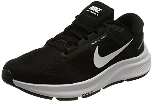 Nike Air Zoom Structure 24, Zapatillas para Correr Mujer, Black/White, 38 EU