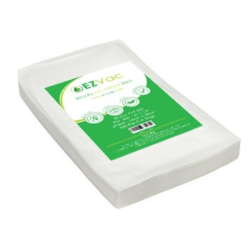 100 Pint Sized Pre-Cut Vacuum Seal Food Storage Bags. For use in all home...
