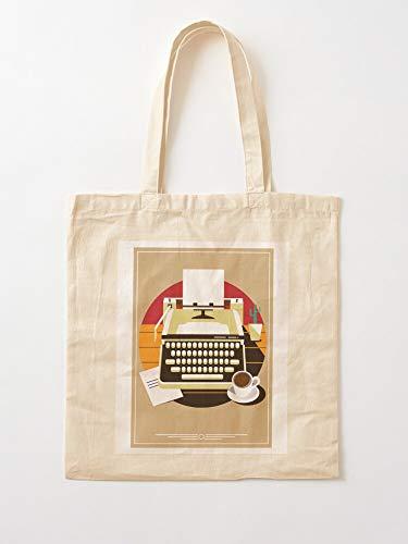 Saltandlaceintimates Book Writer Author Novell Roman Typewriter Paperback Read Canvas Tote Umhängetasche Stylish Shopping Casual Bag Faltbare Reisetasche