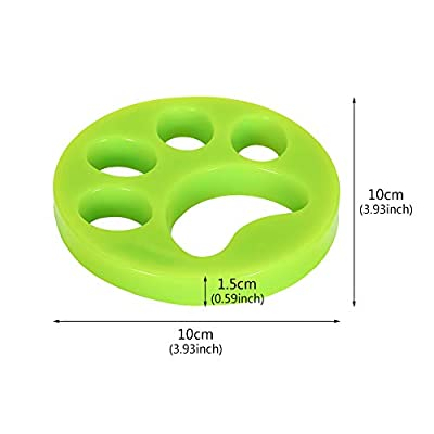 lovingmona Pet Hair Remover for Washing Machine 2 Piece Reusable Pets Hair Catcher for Laundry Hair Removal Balls for Clothes Bedding