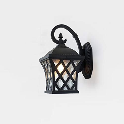 Lámpara de pared exterior de estilo europeo lámpara de pared creativa de red de pesca lámpara de pared de patio de aluminio LED balcón sala de estar pasillo pared exterior lámpara de pared(36x24cm)