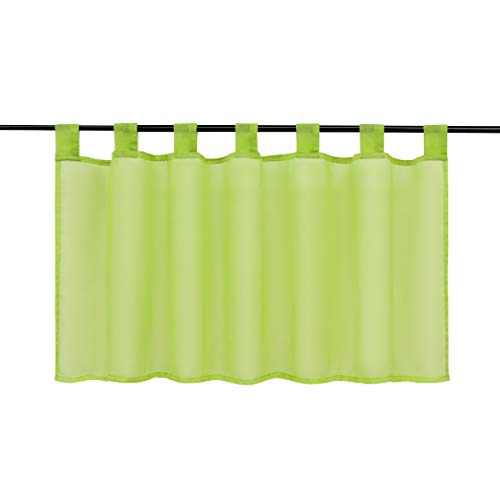 Joyswahl Tendina voile Bistro » EVA « Uni kurzstore colorata trasparente tenda Stores 1er Pack, Poliestere, giallo-verde, HxB 45x90cm