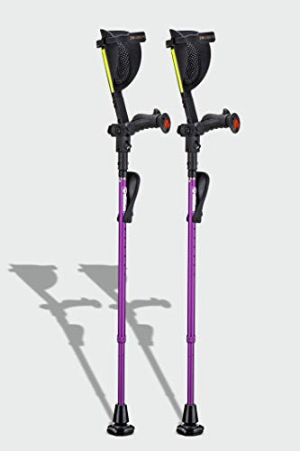 Ergobaum 7G by Ergoactives. 1 Pair (2 Units) of Ergonomic Forearm Crutches - Adult 5' - 6'6'' Adjustable (Purple)