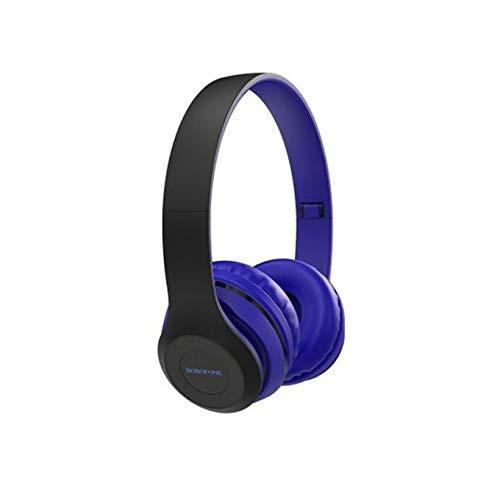 BOROFONE by DBJ - Auriculares Bluetooth inalámbricos , auriculares estéreo Hi-FI 52 Bluetooth 5.0 con micrófono integrado, cómodos tapones para los oídos, música y teléfono/tabletas/PC (azul)