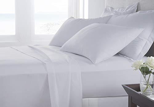 Banzaii Completo Lenzuola Made in Italy con Cotone Alta qualità Maxi (per Materasso 180 cm, Altezza Fino a 35 cm) Bianco