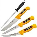 Solingen Eikaso - Juego de cuchillos de carnicero y carnicería, 4 piezas