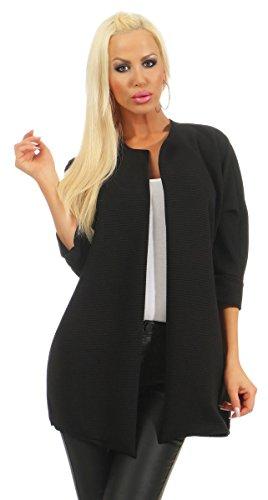 Fashion4Young 4952 Dames blazer business jas zonder kraag
