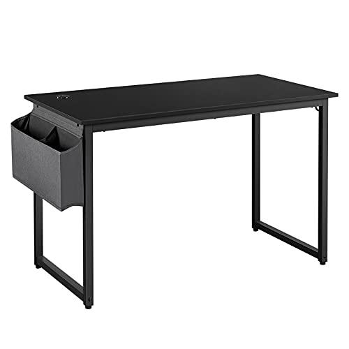 Yaheetech Computertisch Schreibtisch Klassischer Tisch 120CM aus Holzwerkstoffen und Metallframe, Konferenztische, PC Tisch Bürotisch Esstisch für Zuhause und Büro