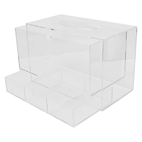 WESE Caja de pañuelos de acrílico, diseño de cajón de Caja de pañuelos para el hogar para salón de Belleza