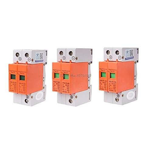 Yinyimei Disyuntores térmicos 1 PC Dispositivo de protección contra sobretensiones SPD casa Corriente Continua Protector de sobretensiones de Rayos 2 Polos 2 0ka ~ 40ka (Poles Number : 800V)