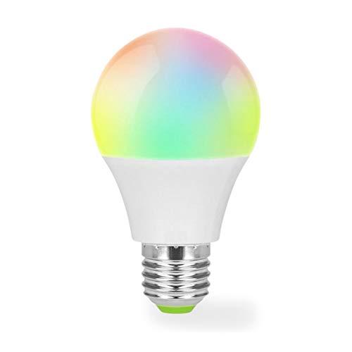 Muvit I/O MIOBULB001 - Bombilla Inteligente WiFi con luz LED (600 LM, 5W, 15000 h, Compatible con asistentes de Voz) Multicolor
