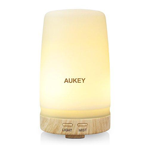 AUKEY Difusor de Aroma 100ML LED de la Luz Fría...
