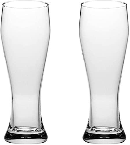 LIULIFE Jarra De Cerveza De 500 Ml, Jarra De Vidrio, Vaso De Agua, Vasos para Beber, Restaurantes, Fiestas Y Vasos De Pub Jarra De Cerveza para Picnics, Reuniones Familiares, Buenos Regalos, 2 Piezas