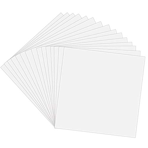 """10 Pack 4 Mil CLEAR Mylar Stencil Sheets, 12"""" x 12"""" Blank Stencils, Reusable Template Material, Make Your Own Stencil Compatible for Cricut Vinyl Cutting Machine"""