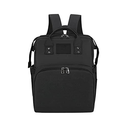 LHZUS Bolsa de pañales USB Interfaz Baby Bags Mochila de Viaje Grande para mamá Bolso de Lactancia Mayor A Prueba de Agua Kit (Color : 01, Size : 390 * 300 * 130mm)