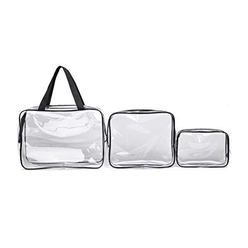 F Fityle 3pcs/ Pack Sac de PVC Transparent Léger Pochette de Cosmétique Sac de Voyage pour Stockage de Brosse à Dents Dentifrice Shampooing Savon Maquillage