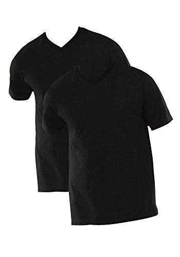 Schiesser Herren Unterhemd 2 er Pack 008151-000, Gr. 8 (XXL), Schwarz (000-schwarz)