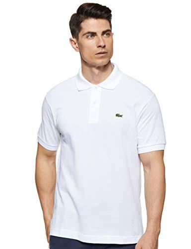 Lacoste L1212 Camisa de polo, Blanco (Blanc), M para Hombre