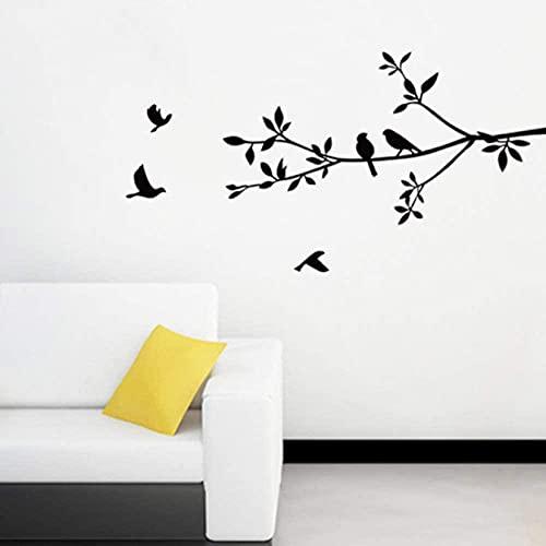 Pájaros y sucursales Etiqueta de la pared Dormitorio Hogar Sala de estar Fondo Decoración Mural Tarquías Art Lindo Pájaro Pegatinas