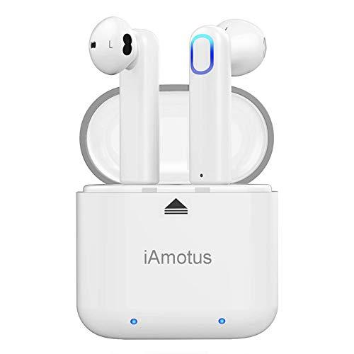 Auriculares Bluetooth, iAmotus Auriculares Inalámbricos Bluetooth 5.0 TWS Auriculares Bluetooth Deportivos con Micrófono, Cancelación de Ruido CVC 8.0 Cascos Bluetooth Inalambricos para iOS y Android