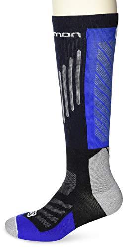 Salomon, 1 Paire de Chaussettes de Compression, Unisexes, COMPRESSION, Polyamide/Polyester Coolmax, Taille XL (45-47), Bleu/Noir (Nautical Blue/Black), LC1217100