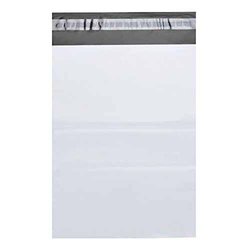 """RBHK Poly Mailers Envelopes Shipping Bags Self Sealing, White?100 Bags (12""""x15.5"""" 100 Bags)"""