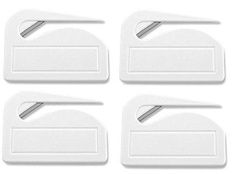 Brieföffner 'Pocket' aus Kunststoff, Weiß, 4er Pack