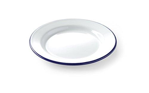 HENDI Teller, Flach, mit einem schönen blauen Rand, Abriebfest, ø200mm