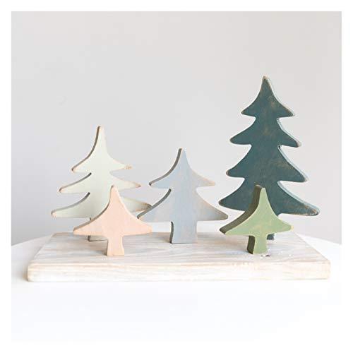 ZSM Albero di Natale Artificiale PVC Albero di Natale Albero di Natale in Legno per Bambini Mini Albero di Natale Artificiale Albero di Natale Artigianale per Bambini, può Senso di