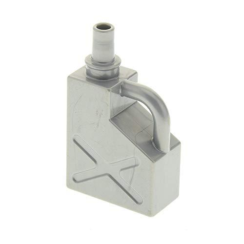 Bausteine gebraucht 1 x Lego Duplo Kanister perl hell grau 1x2x2 Benzin Oel Kanne Tankstelle Auto 45141