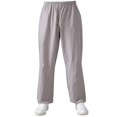BBLAC 2KEY Artes Marciales Ropa   Unisex Traje para Tai Chi y Meditación   Tradicional Chino Uniforme   Pantalones Está Hecho Algodón y Lino   Ropa para Yoga y Pilates (L,C)