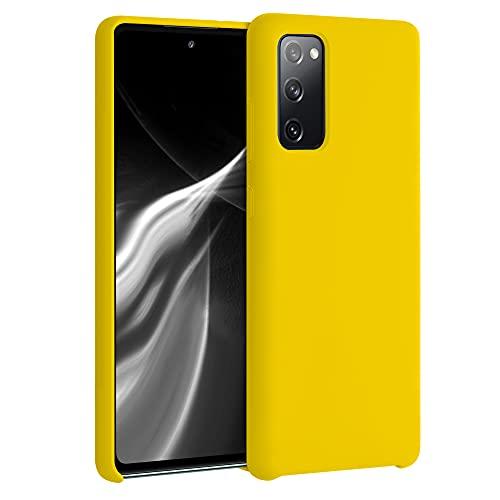 kwmobile Hülle kompatibel mit Samsung Galaxy S20 FE - Hülle Silikon gummiert - Handyhülle - Handy Hülle in Vibrant Yellow