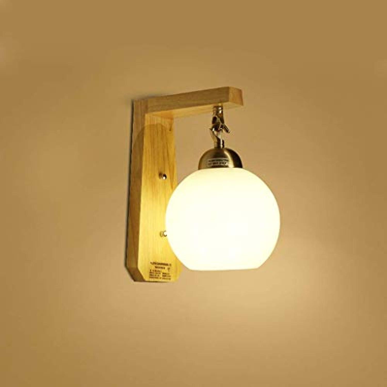 Oudan Massivholz Nachttischlampe, Die Solarleuchte Wandleuchte Wandleuchte Flur Flur Balkon Schlafzimmer (Gre  S LED) (Farbe   S)