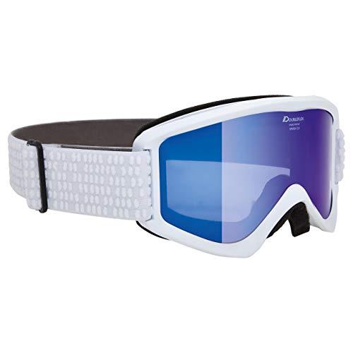 Alpina Sports Unisex– Erwachsene Smash 2.0 MM Skibrille, weiß, Einheitsgröße