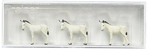 Auhagen 10151.0 - Donkeys pkg(3) HO Scale Figure