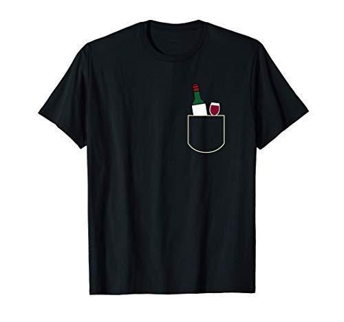 Divertido Copa De Vino En Bolsa Regalo Vino Pocket Camiseta