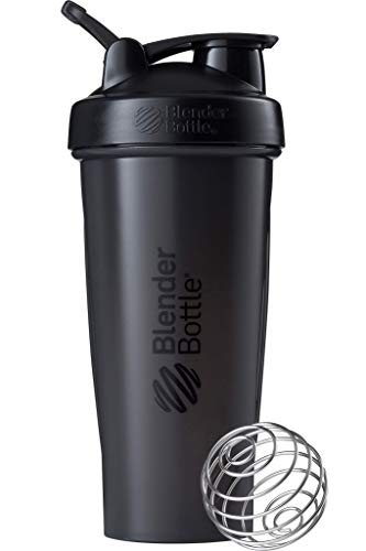 BlenderBottle Classic Loop Shaker cup / Diet Shaker / Protein Shaker with Blenderball 820ml capacity, scales up to 600ml - Black