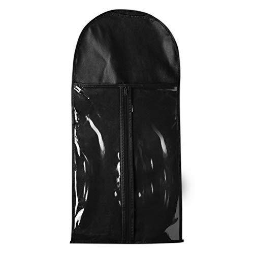 Sylvialuca Haarverlängerung Träger Organizer Aufbewahrungstasche Staubdicht Langlebig Reißverschluss Vlies Anzug Tasche Perücke Aufhänger Tasche