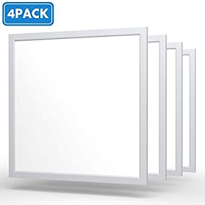 2x2 LED Flat Panel Light[UL],4Pack Phizli 0-10V Dimmable 40W 4000K Recessed Edge-Lit Drop Ceiling Troffer Light Fixture,4000LM Daylight White Color Surface Mount Ceiling Light