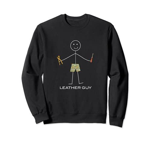 Lustige Herren Lederverarbeitung, Boy Leathercraft Geschenk Sweatshirt
