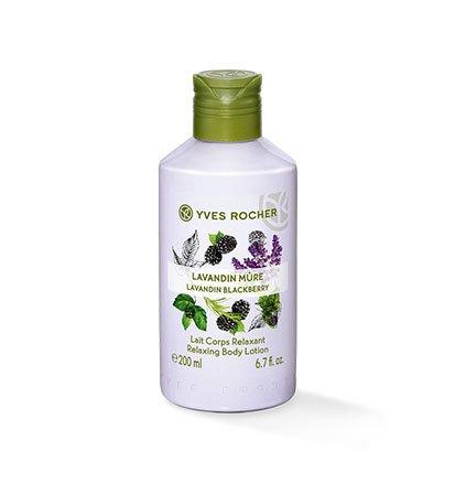 Yves Rocher LES PLAISIRS NATURE Körpermilch Lavendel-Brombeere, feuchtigkeitsspendende Body Milk, 1 x Flacon 200 ml