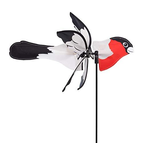 CIM Windspiel - Petite 2in1 GIMPEL - Windrad Ø28x43x85cm - Windmühle mit Standstab oder Mobile mit Hängeset
