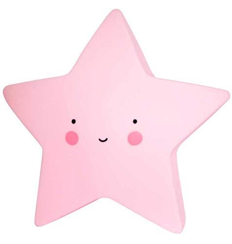 A Little Lovely Company LTSP030 - Lámpara en forma de estrella, Rosa