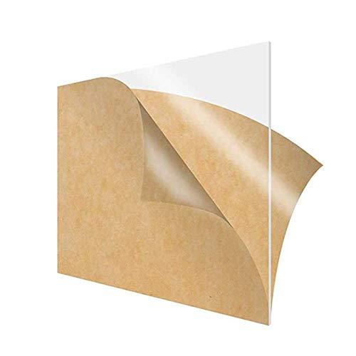 Dumadf Plexiglas Blatt, leicht Plexiglas Sheets Cut Kunststoff transparente Platte 150x150mm, Stärke 2mm 10 Stück
