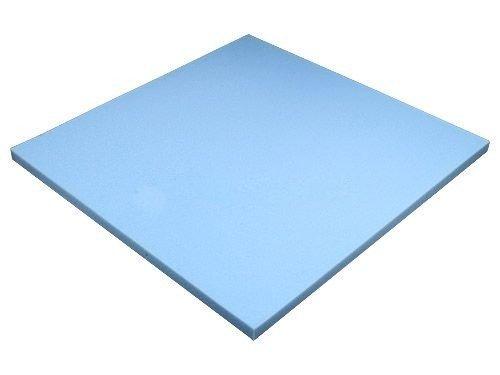 Heiro Schaumstoffplatte Blau 50x50cm Schaumstoff Kissen Schaumstoffpolster - extra formstabil - 2cm dick